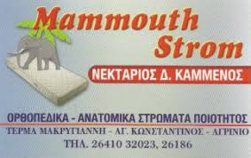 MAMMOUTH STROM ΣΤΡΩΜΑΤΑ ΑΓΡΙΝΙΟ
