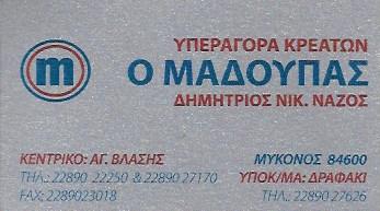 ΚΡΕΟΠΩΛΕΙΟ Ο ΜΑΔΟΥΠΑΣ ΔΡΑΦΑΚΙ ΜΥΚΟΝΟΣ ΝΑΖΟΣ ΔΗΜΗΤΡΙΟΣ