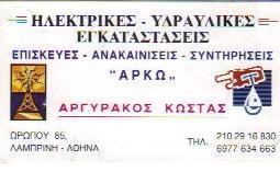 ΥΔΡΑΥΛΙΚΟΣ ΑΘΗΝΑ ΑΡΓΥΡΑΚΟΣ ΚΩΣΤΑΣ