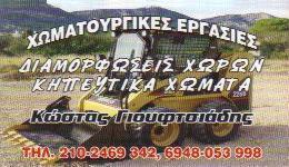 ΧΩΜΑΤΟΥΡΓΙΚΑ ΑΧΑΡΝΑΙ ΚΩΣΤΑΣ ΓΙΟΥΦΤΣΙΑΔΗΣ